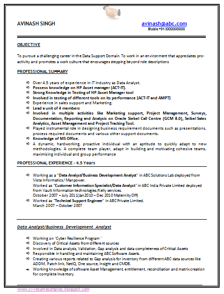 10000 CV and Resume Samples with Free Download: 5 B Tech Resume Sample