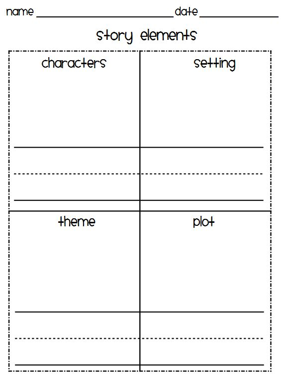 Classroom Freebies Too Story Elements – Story Elements Worksheets