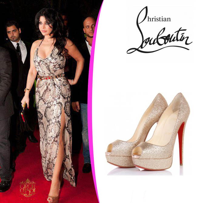 4f5ee351c622 Haifa wehbe fashion and jewelry  Christian Louboutin lady peep ...