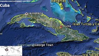 Cuba vista con el google earth 2012