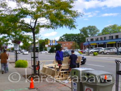 Parking Day art installation outside LCBO store on Lakeshore Road East in Port Credit.