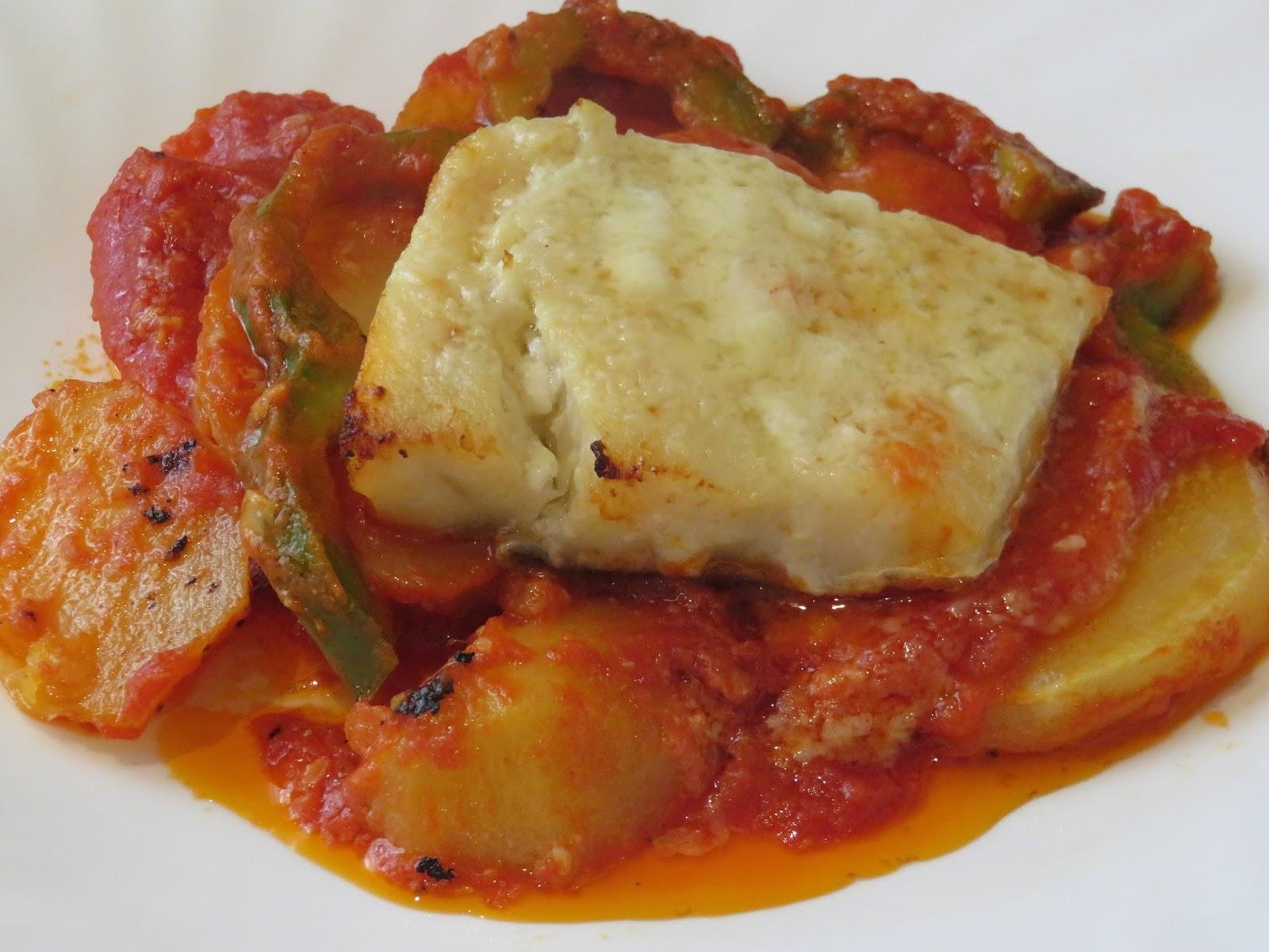 Recetas monsieur cuisine bacalao con tomate y patatas - Cocinar bacalao congelado ...