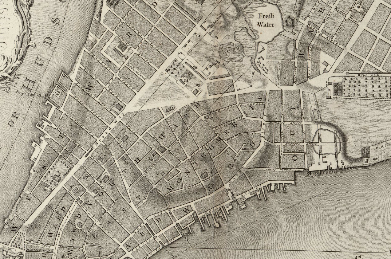 1776 map of new york city current city hall park is located in upper middle of the map inside the triangular open space the wide road in the upper right