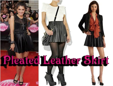 Leather Pleated Skirt Trend