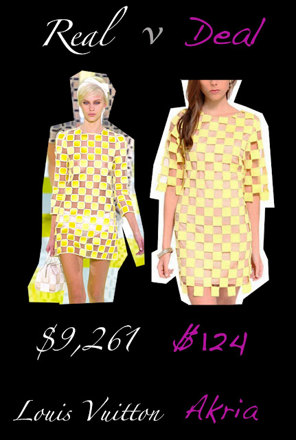 Louis Vuitton's yellow checkered dress verses Akria's yellow checkered dress
