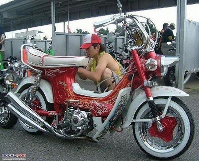modifikasi motor yamaha 75  tahun ini