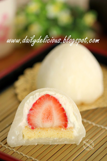 chcooate cream daifuku how to eat