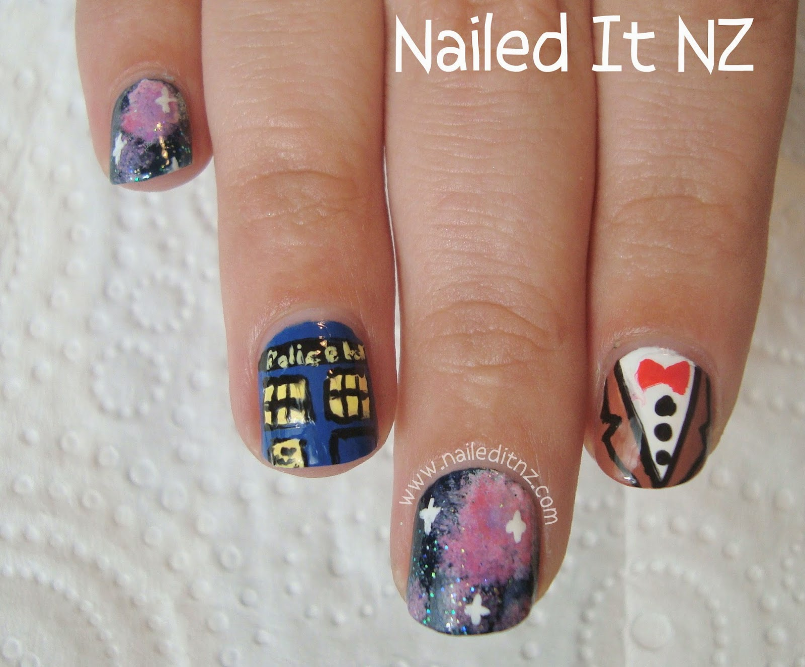 Doctor Who Nail Art Tardis 11th Doctor Bad Wolf Dalek