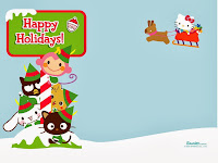 Natal da Hello Kitty Christmas Wallpaper