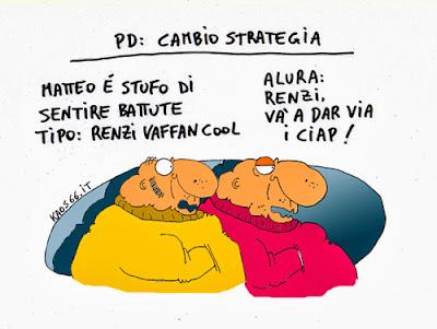 Vignetta Renzi vorrebbe un PD più cool e figo