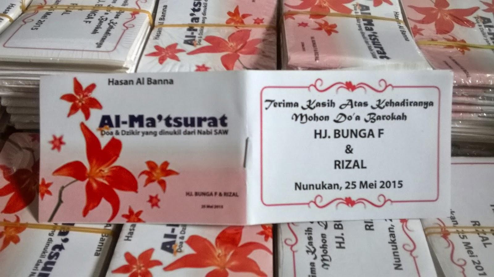 Al-Matsurat Suvenir Pernikahan