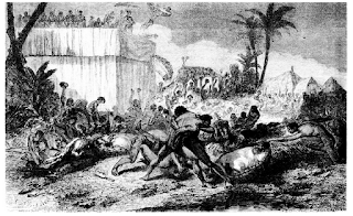 Sacrificios en Dahomey. dos