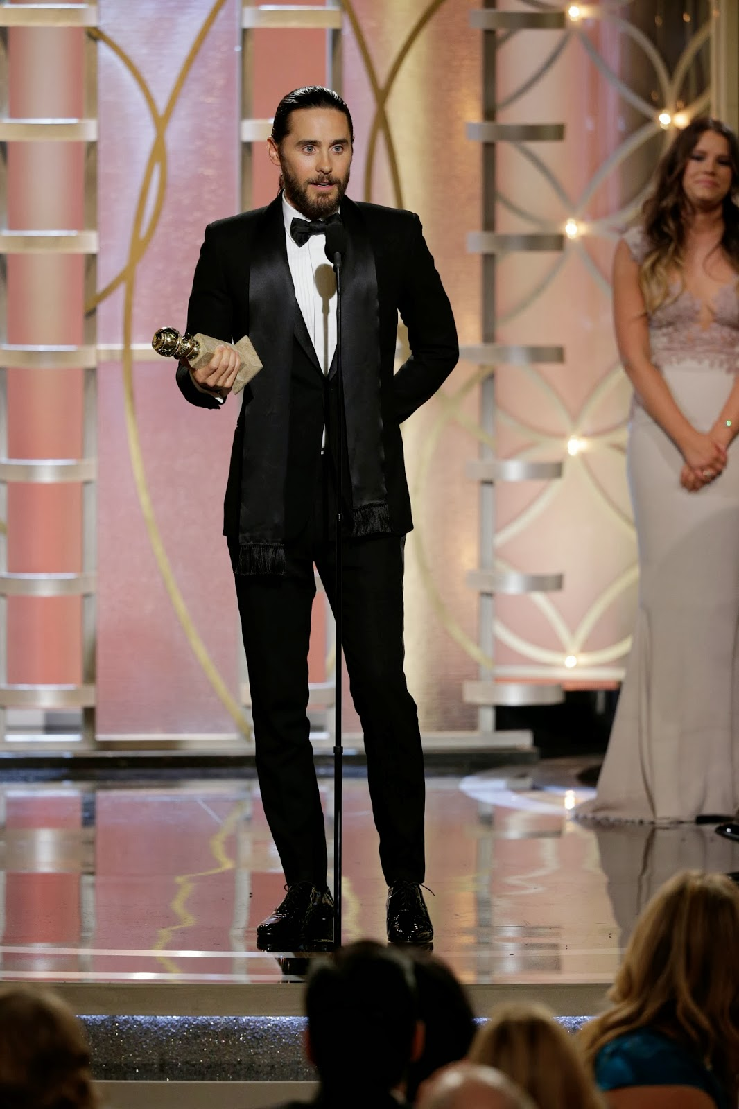 Jared Leto in Saint Laurent - 71st Annual Golden Globe Awards