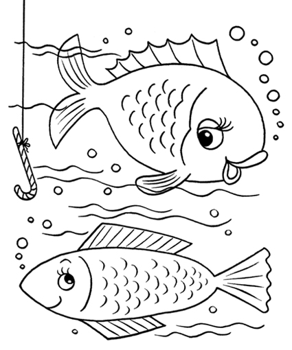 fishing rod coloring pages