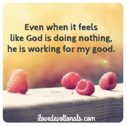 When it feels like God is doing nothing