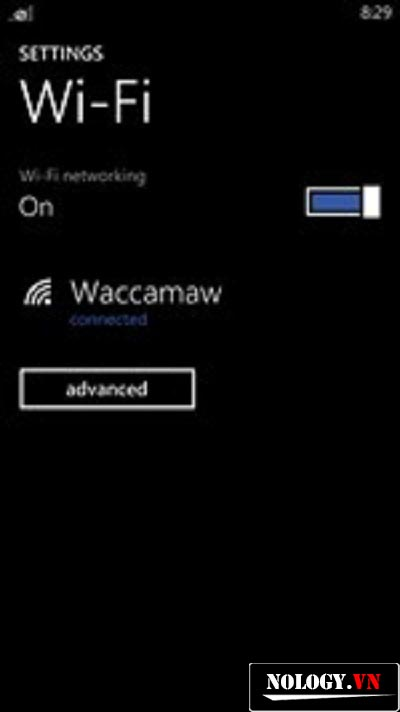 cài đặt wifi cho nokia lumia 520