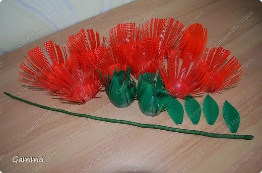 Цветы из одноразовых стаканчиков