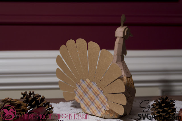 3d fold art turkey