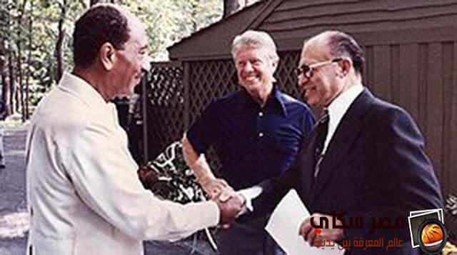 مبادرة الرئيس السادات لزيارة إسرائيل من أجل السلا 1977 م ومؤتمر كامب ديفيد سبتمبر 1978 م