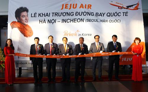 Khai trương đường bay mới Hà Nội - Incheon của hãng hàng không Jeju Air