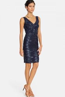 Lauren Ralph Lauren Sequin Mesh Sheath Dress