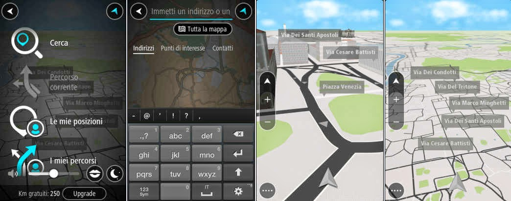 scarica gratis tomtom go mobile per android e iphone il navigatore gps con 75 km liberi al mese. Black Bedroom Furniture Sets. Home Design Ideas