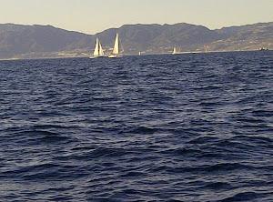 Sail Boats off the Shore of Malabu