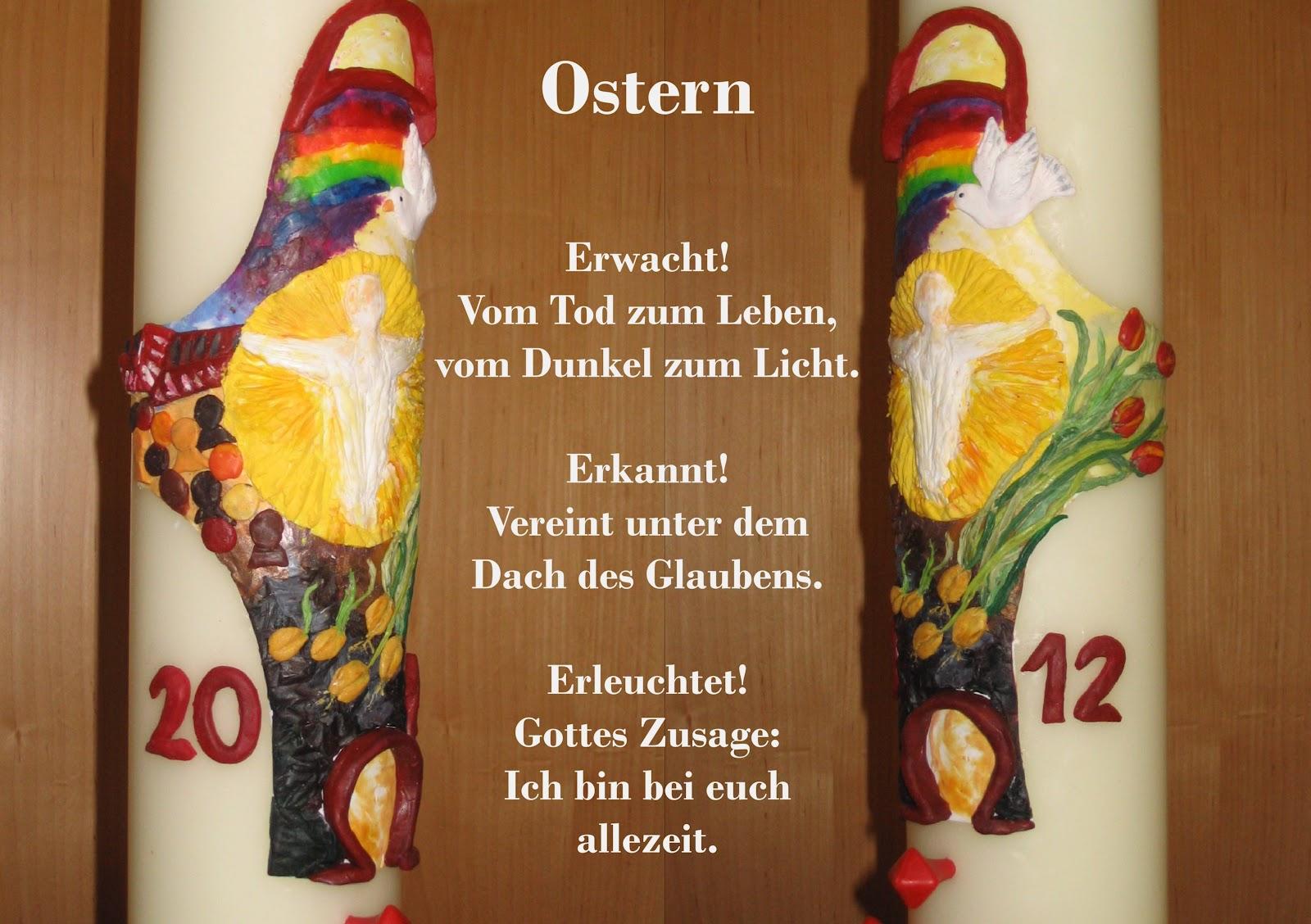 Rosis kreative werke osterkerze 2012 for Osterkerzen modern