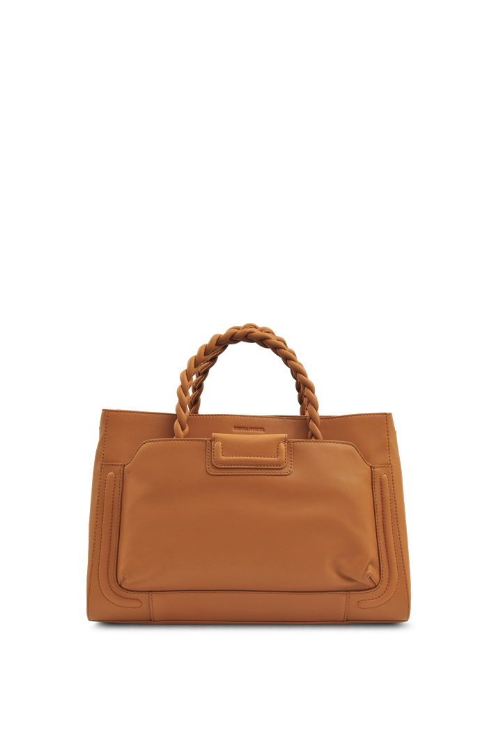 Gabriel tote bag in tan leather by Sonia Rykiel