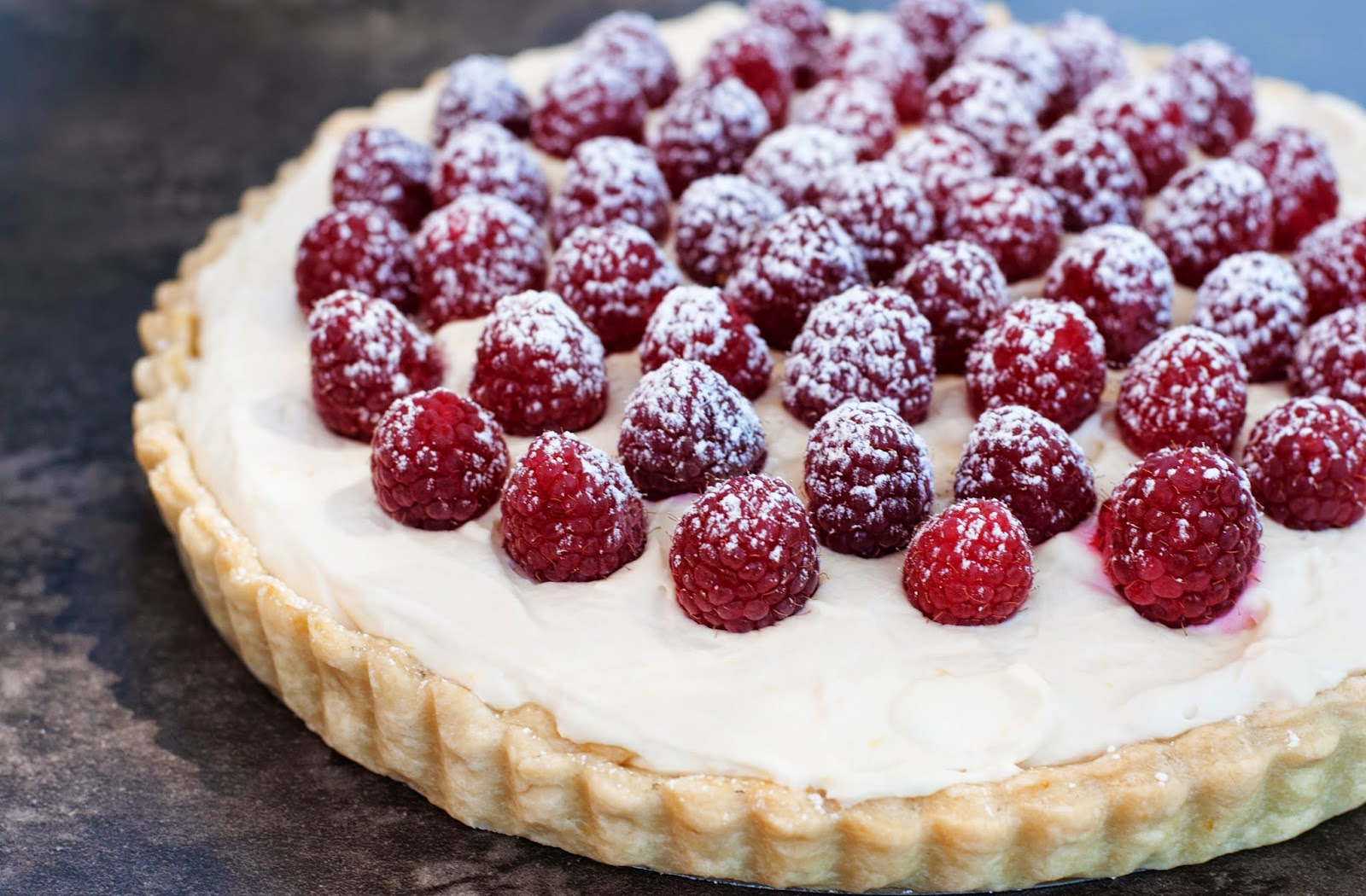 Raspberry Cream Tart Recipe — Dishmaps