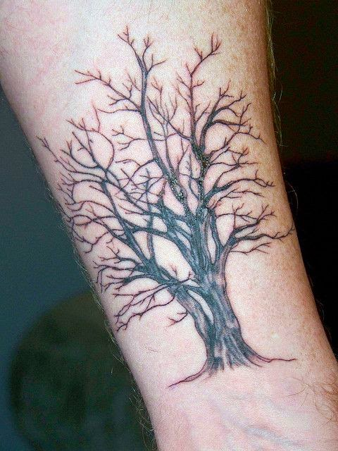 ♥ ♫ ♥ I like the double trunk on this one--closer to the hazel tree/thicket, I would add roots if this was my tattoo ♡ ♥ ♫ ♥