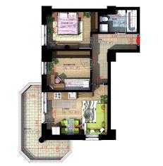 Royal Town Copou - Apartament 3 camere-semi-decomandat-60,10 mp