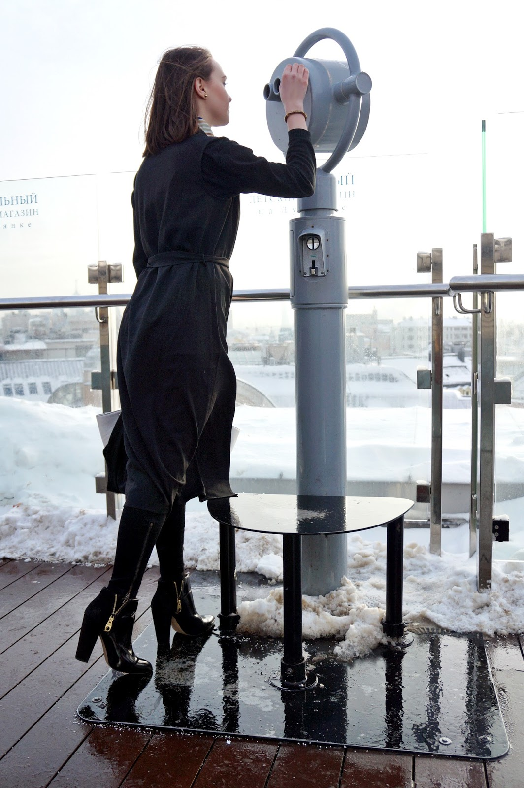 Black long vest | Alina Ermilova | Fashion blogger | Moscow