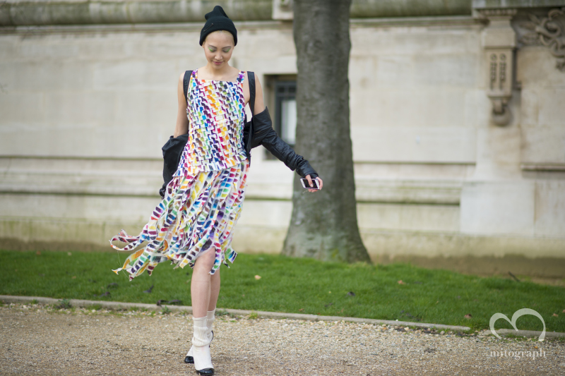 Model SooJoo Park wears Chanel at Grand Palais during Paris Fashion Week 2014 Fall WInter PFW