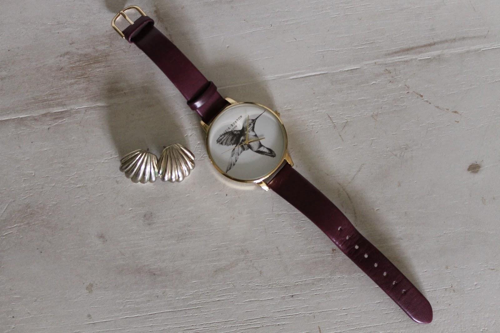 OOTD Olivia Burton Hummingbird Watch