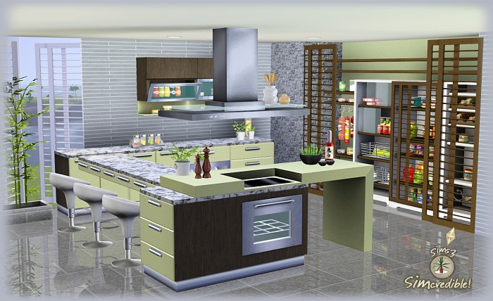 My sims 3 blog form function kitchen pantry and for Sims 2 kitchen ideas