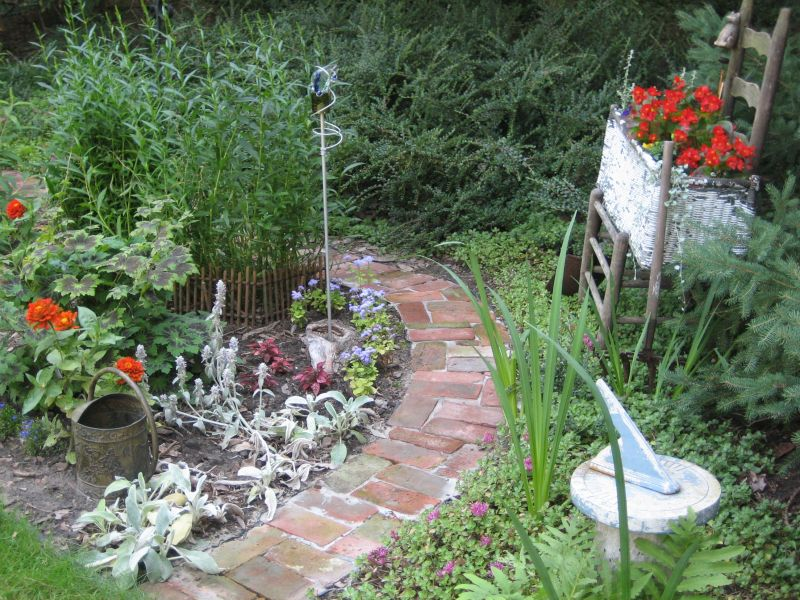 Gallery For Brick Garden Path Ideas