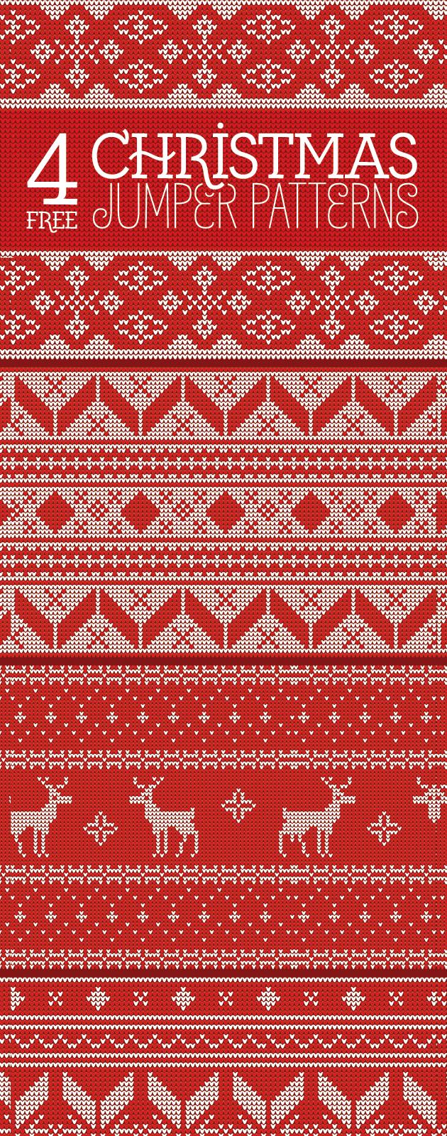 ニットのクリスマスパターンが合計4種類
