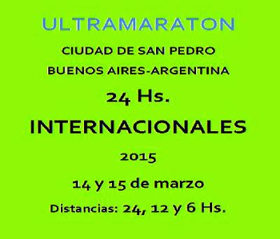 Ultramaratón 24 - 12 y 6 horas de San Pedro (ARG, 14-15/mar/2015)