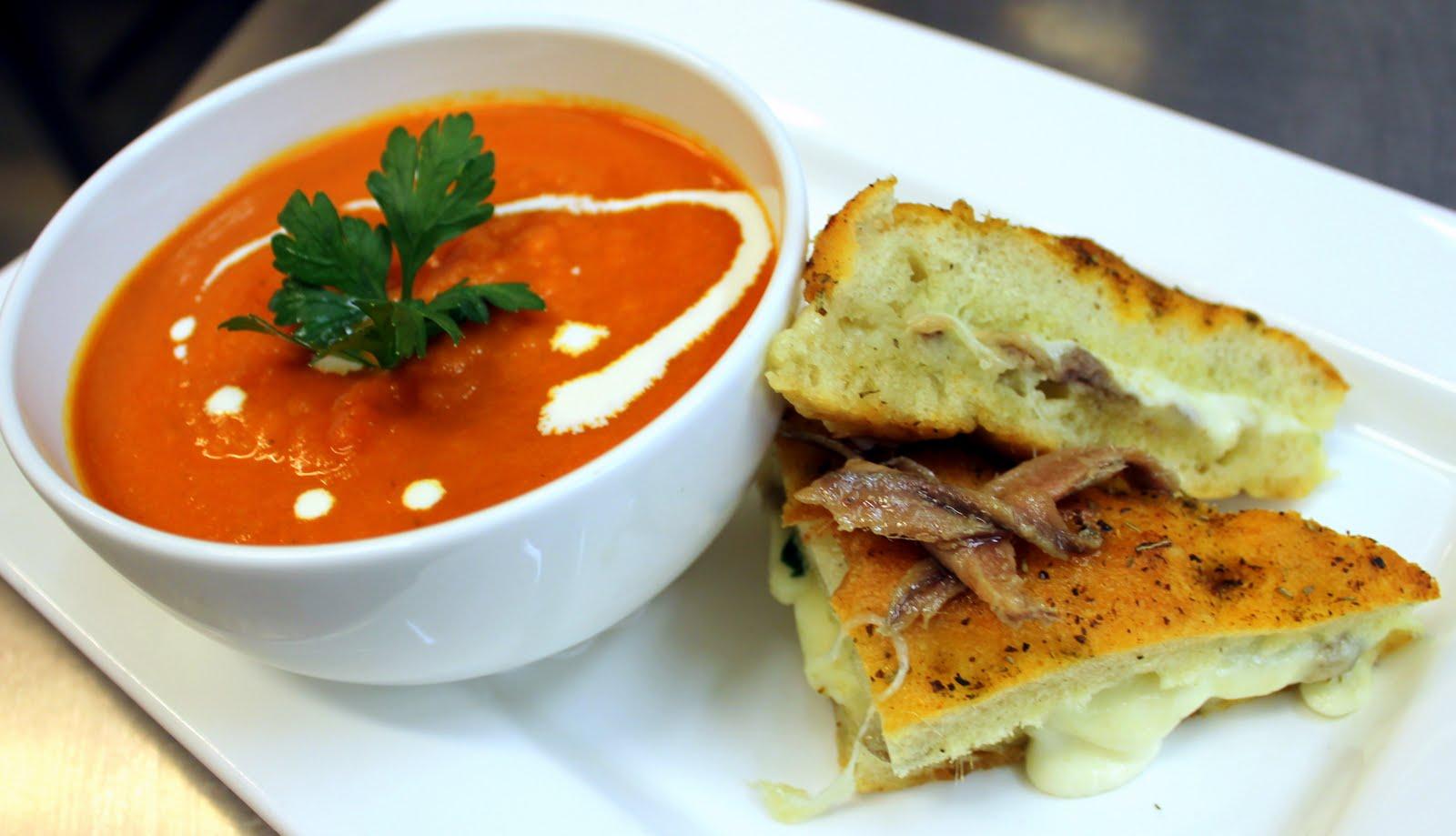 ... Bianca: Cream soups - Cauliflower, blue cheese and black truffle soup