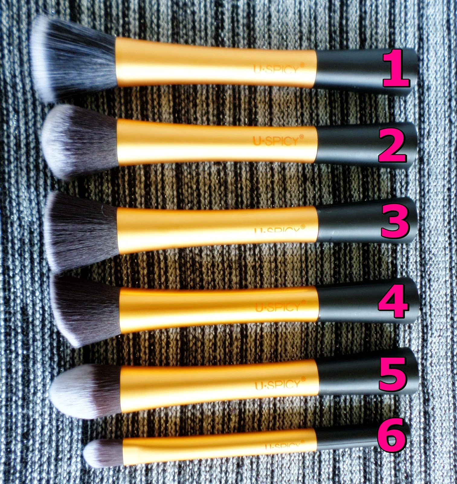 USpicy Makeup Brushes Review Real Techniques Dupe Brush Set