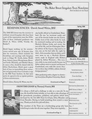 BSI Trust Spring 2008 Newsletter