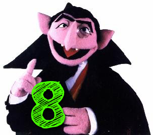 The number 8, Sesame Street, The Count, Sesame Street Number 8