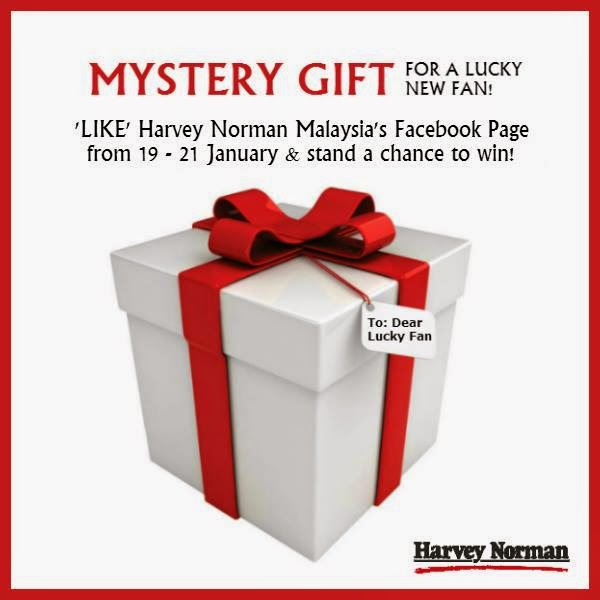 Like Harvey Norman Facebook and Win free gift