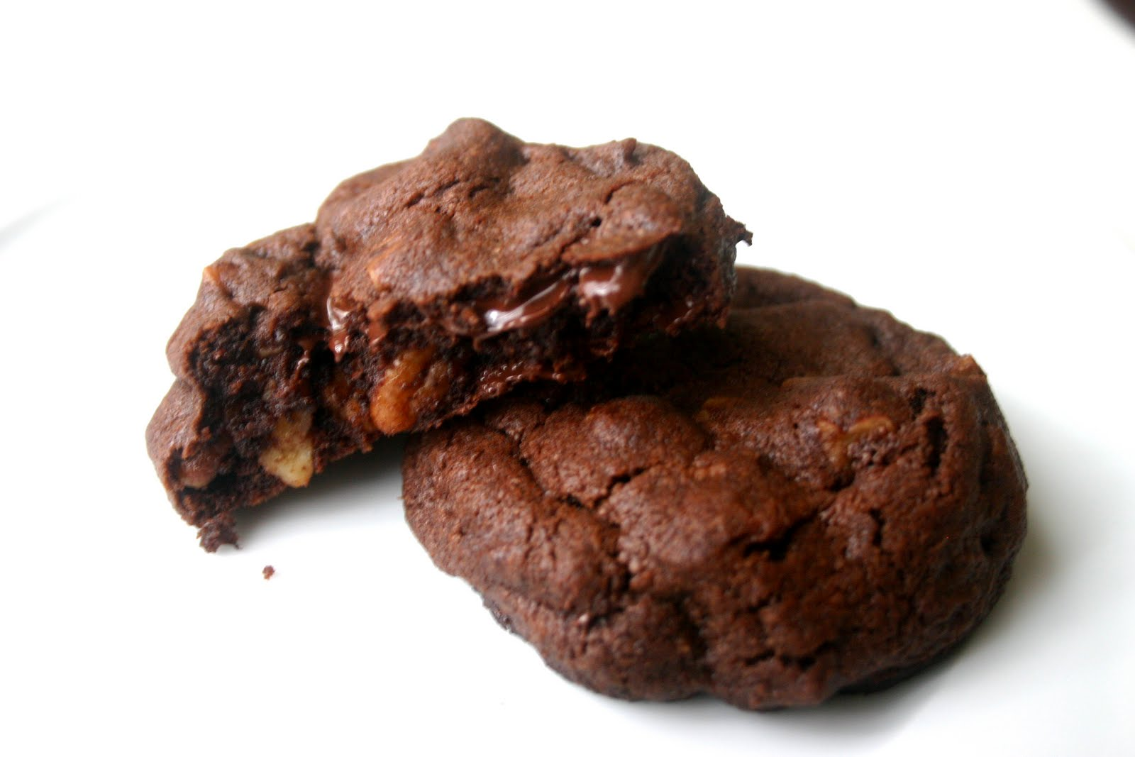 Nuts about food: Double chocolate chip cookies