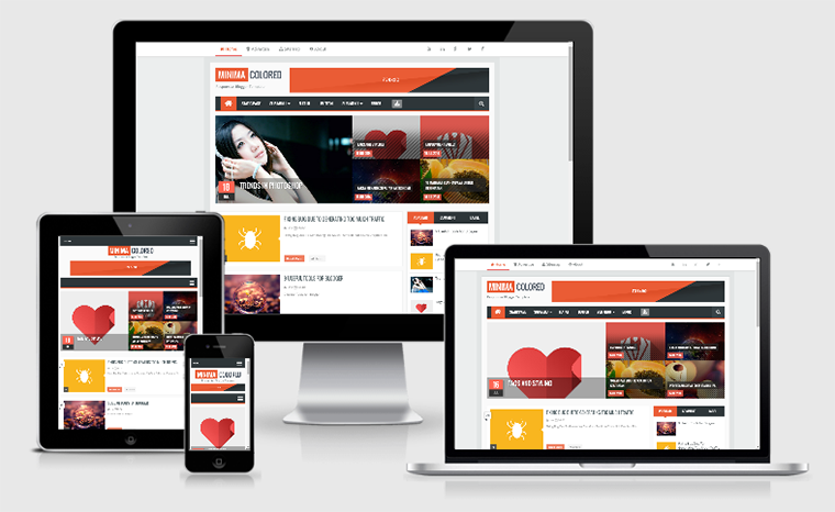 Minima Colored V2.1 Responsive Blogger Template