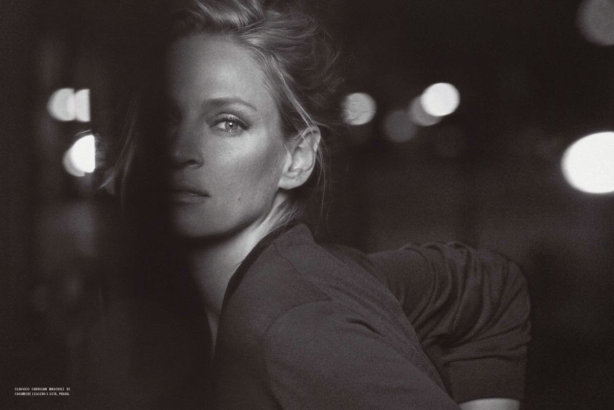 Uma Thurman by Peter Lindbergh for Vogue Italia (February 2012) | Ses Rêveries