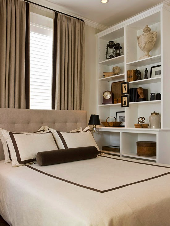 Modern furniture 2014 tips for small bedrooms decorating for Small main bedroom decor ideas