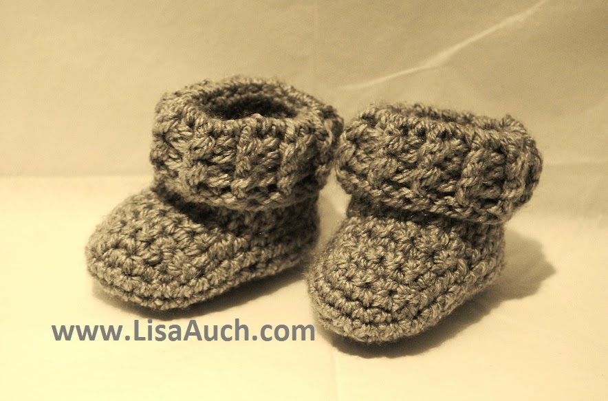 Free Crochet Boy Booties Pattern