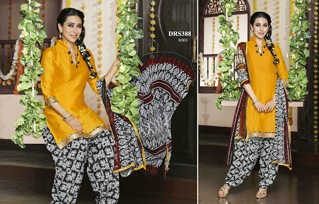 Karishma Kapoor Patiala Cotton Dress Material
